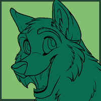 Cartoon Wolf Cub Icon  MS PAINT by Starwuff