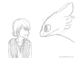 Hiccup and Toothless by Wolf-Spirit99