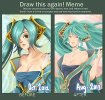 Draw this again meme! Sona ver. by Manly-Rainbow