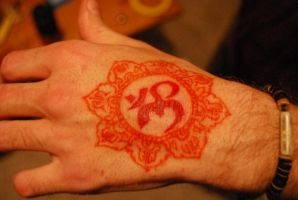 OM with mandala by VinczeOtto
