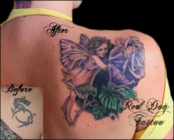 Stacie's Fairy by Reddogtattoo