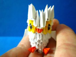 3d origami tiny baby owl for sale by ellycolor
