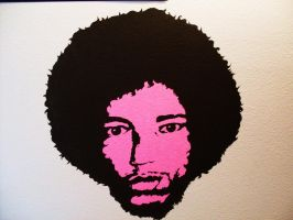 Jimi Hendrix by CobainLives