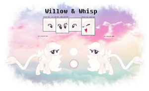 Willow and Whisp {Mlp OC Ref Sheet} by Karkats-Spaghetti