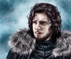 Jon Snow (Kit Harington) by tlo001