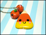 Candy Corn Pals Necklace by GrandmaThunderpants