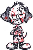 Peter Puppy is a bloody mess by DestroX71689