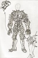 House of Rochan Armor Sketch by Azmal