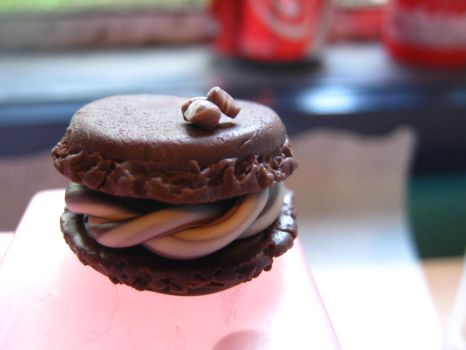 Polymer clay chocolate macaroon by bacon-piggy