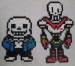 Undertale - Sans and Papyrus bead sprites by VV-Weegee
