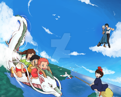 Ghibli Crossover by Perfectlykawaii93