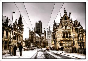 Snow In Ghent IV by OnayGencturk