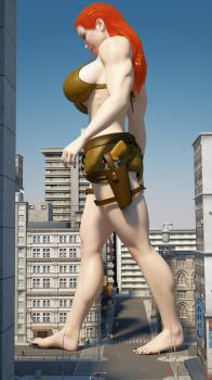 Cassie Croft 300ft 6 by Tiny-Mk by Giantess-Cassie