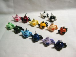 Teapot Charms by okapirose