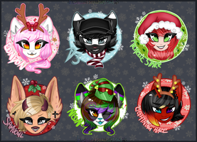 Christmas Button Collection 2015 by NekoMellow
