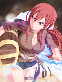 Erza Commission 38 Coloring by Planeptune