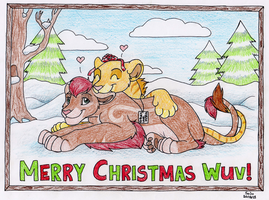 Christmas doodle for my luv by silana