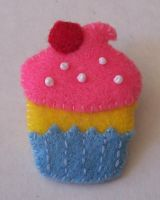 Sweet Cupcake Pin by cuteordeath