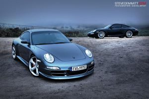 Twin Supercharged Porsches by SteveDemmitt