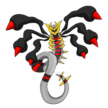 Giratina tattoo design by Miss-Freeman