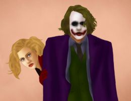 Joker + Harley: Caught by BLOOD-and-LUST-87