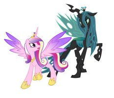 Princess Cadence and Chrysalis by DANMAKUMAN