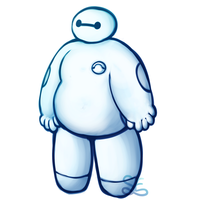 Brush Practice - Baymax by Sigma-the-Enigma