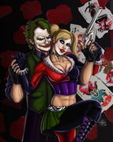 Joker and Harley Quinn by jpzilla