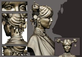 The Successor Zbrush Sculpt hair detail V2 by smallsketch