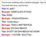 Omegle Crabs by KadenceWolf