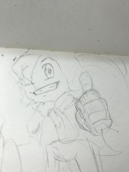 Billy Hatcher pencil doodle by MyHeartisanOpenBook