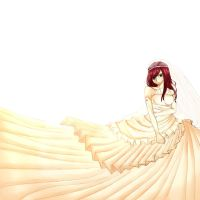 Erza in Wedding Dress by moon095