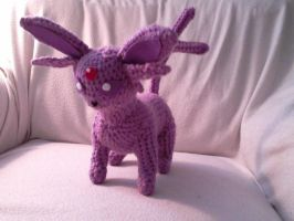 Espeon Crocheted - FOR SALE by Kitorahoshi