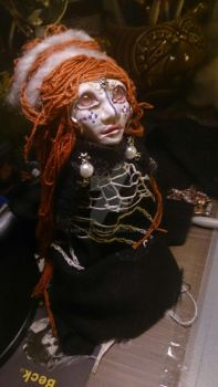 Ginger pink eyed female doll process 7 by AnetteAga