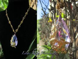 Lilac Rose Necklace by Lillyxandra