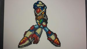 Mega Man X2: Weapon Get Perler by mecharichter