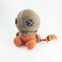 Trick 'r Treat's Sam Handmade Amigurumi by cyellow