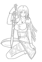 Lineart for Mistylear drawing by gamemaster8910
