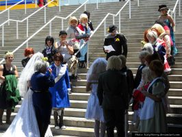AX 2013 Hetalia Wedding: AusHun and UsUK by KatyMerry