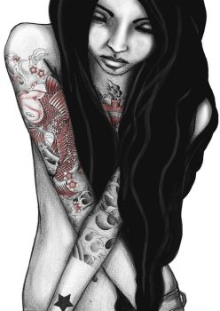 tattoo girl by nut2