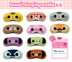 Kawaii sleeping masks 2 by tho-be