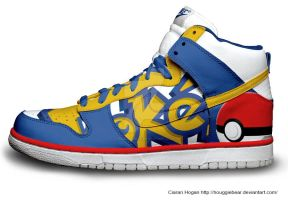 Pokemon Nike Dunks by Houggiebear