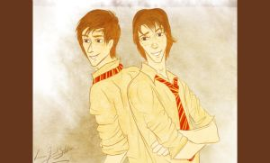 the weasley twins by laugiancoli
