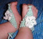 Tiny flower sandals by kivrin82