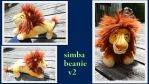 Adult Simba beanie V2 by Laurel-Lion