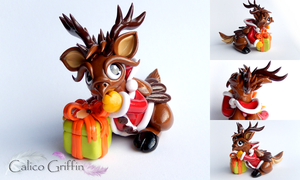 Christmas Reingriff - SOLD by CalicoGriffin