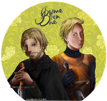 GoT: Jaime Lannister and Brienne of Tarth by SarlyneART