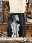 Oil: Bust study by alisagirard