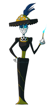 Undertale OC - Sans and Papyrus' mom by Snowflake-owl