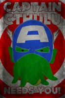 Captain Cthulu Needs You! by yetixx